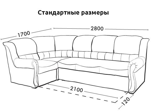 Dimensioni di un divano angolare (45 foto): dimensioni ...