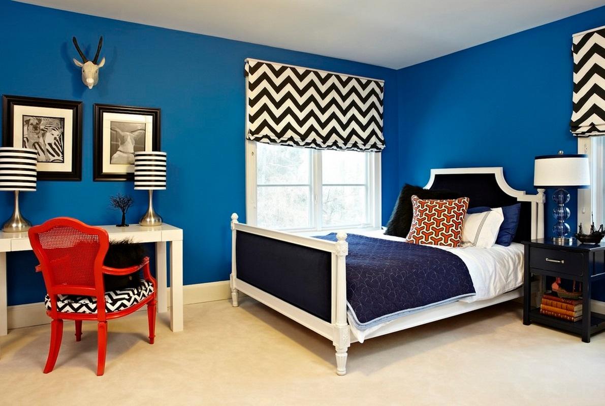 Bilik Tidur Biru 76 Gambar Reka Bentuk Dalaman Dalam Warna Biru Gelap Dalam Warna Biru Putih Biru Emas Dan Biru Maksud Warna
