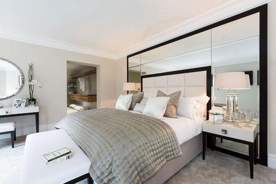 Specchio nella camera da letto (50 foto): le regole per posizionare ...