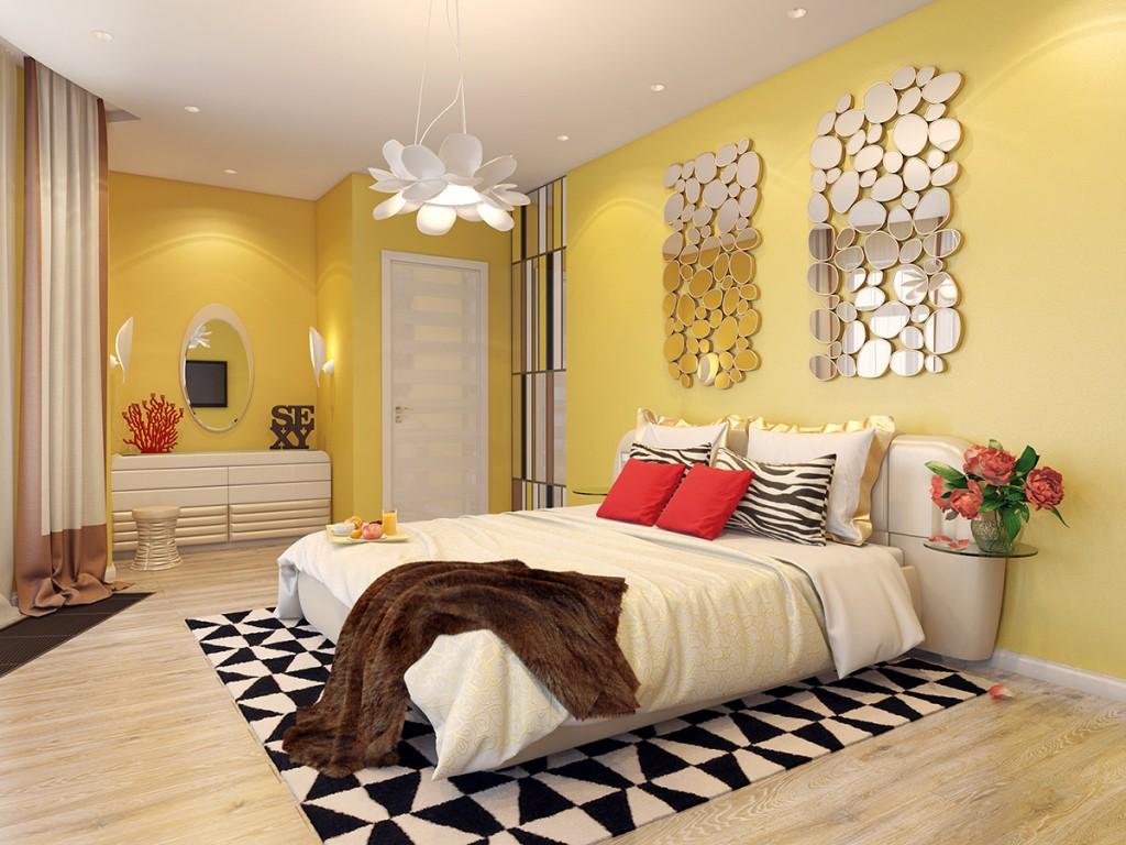 Yellow Bedroom 65 Photos A Bedroom In Yellow Tones Yellow Color In The Interior Of A Narrow Dark Yellow And Orange Bedroom Design Of A Yellow Green Bedroom