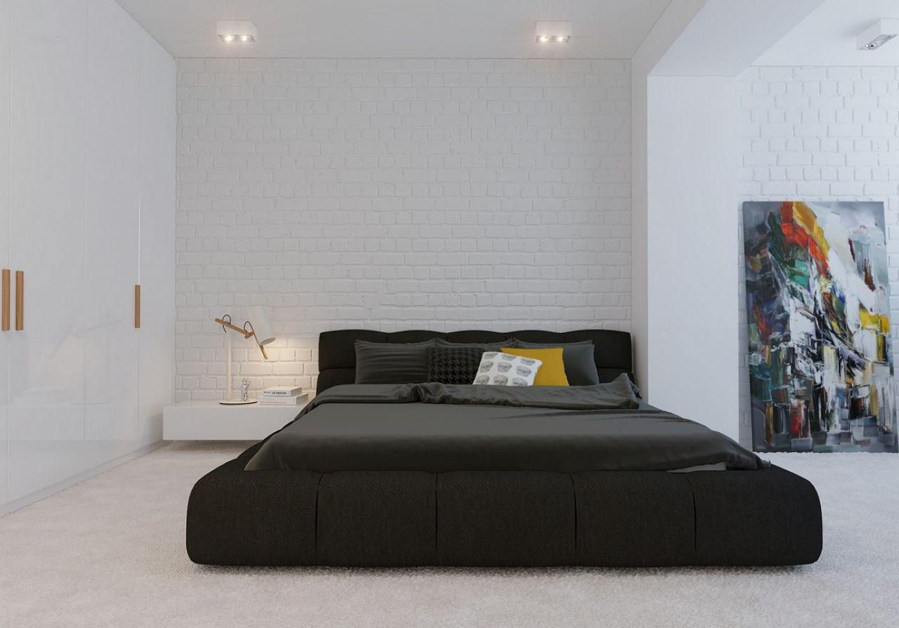 Schwarzes Bett 35 Fotos Schlafzimmer Innenarchitektur Mit Schwarzem Leder Und Glanzendem Bett