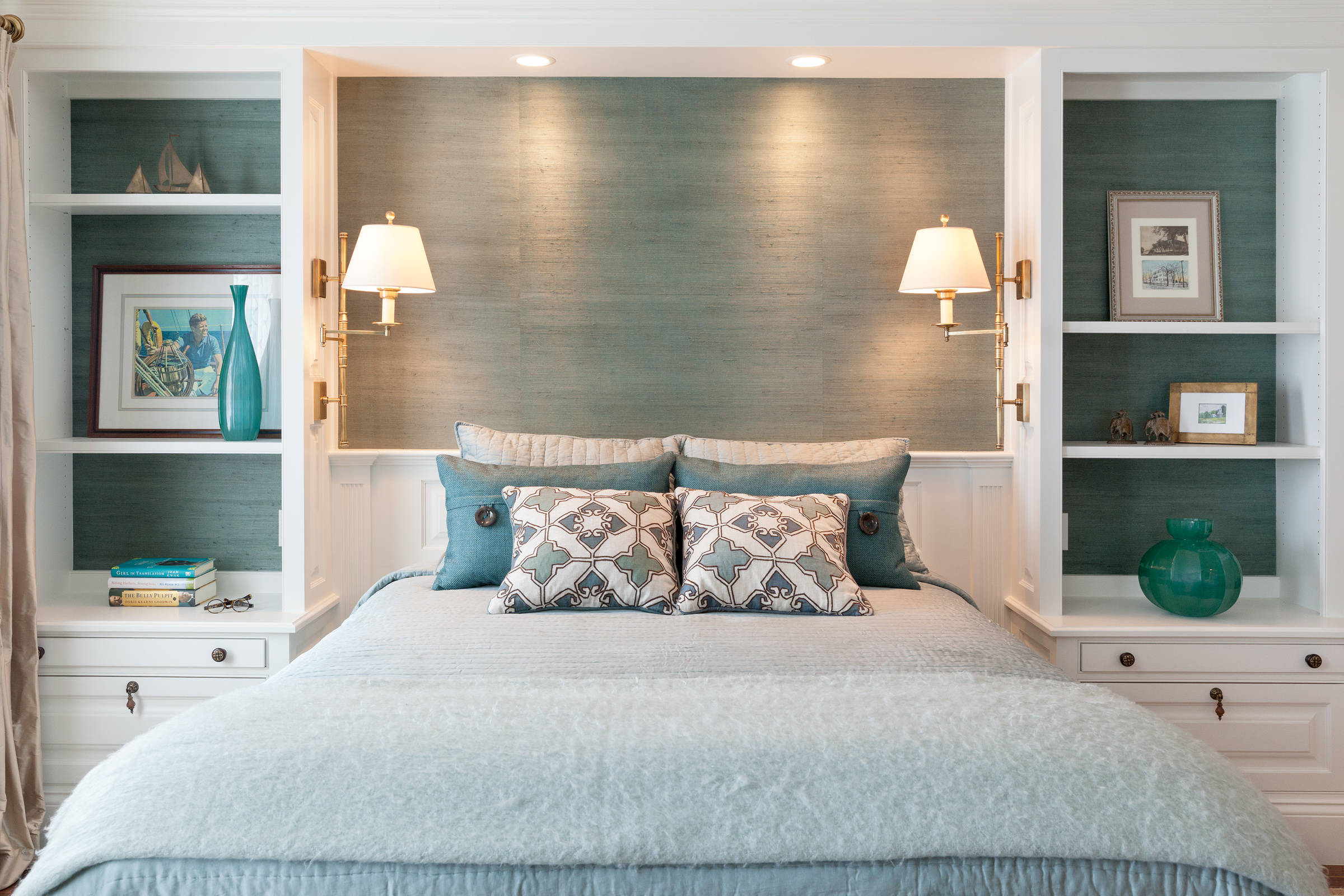 nische im schlafzimmer (33 fotos): von trockenbau über dem
