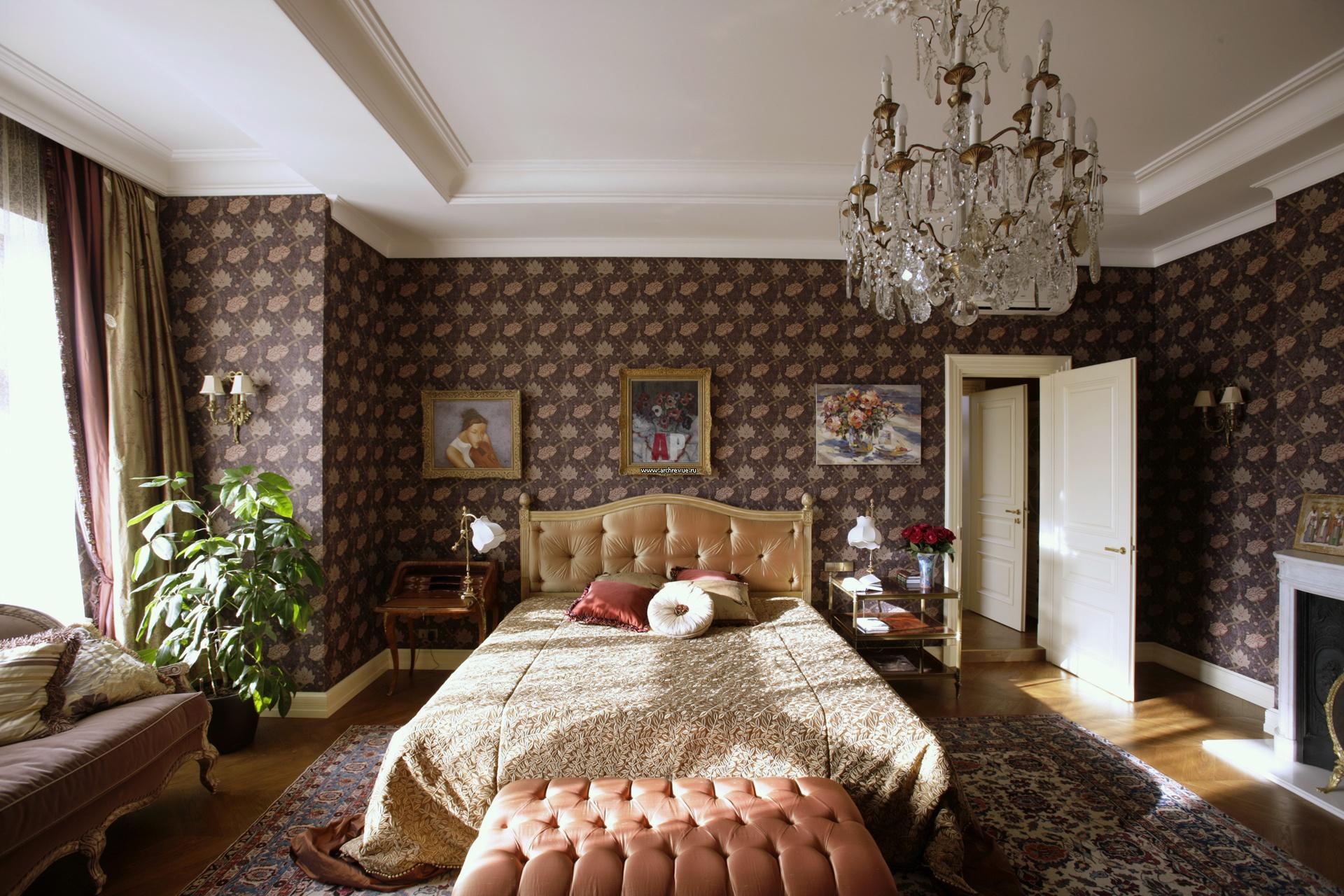 Camera da letto in stile inglese (37 foto): interior design