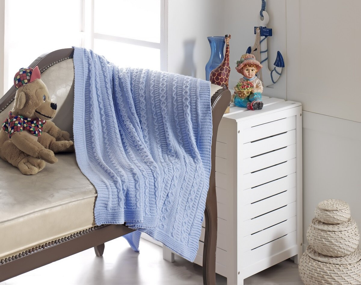 Plaid Fatto Ai Ferri coperta per bambini lavorata ai ferri (48 foto): modelli