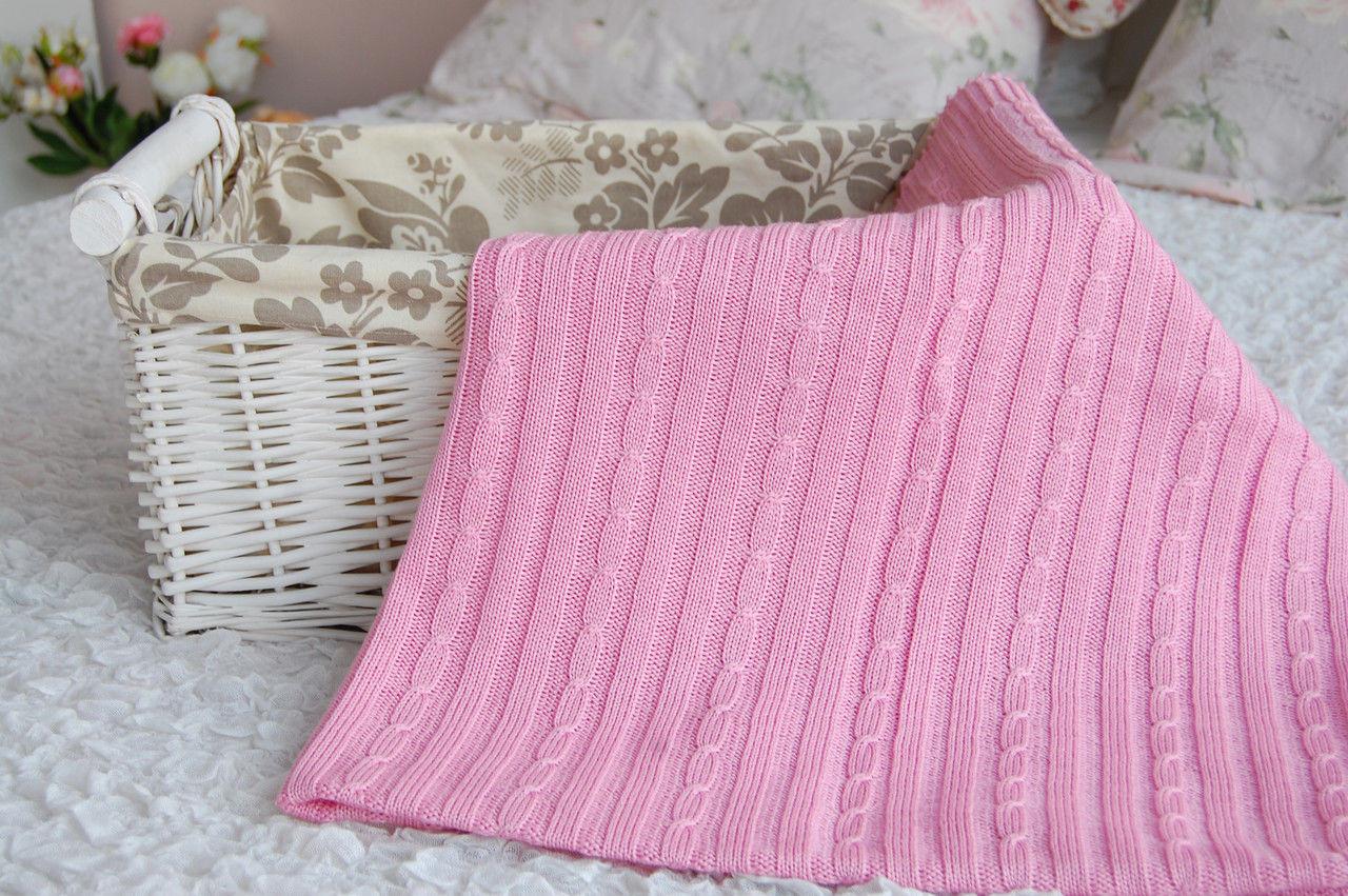 Las instrucciones impresas Tejer-Tejer patrón de bambú cuna manta de bebé