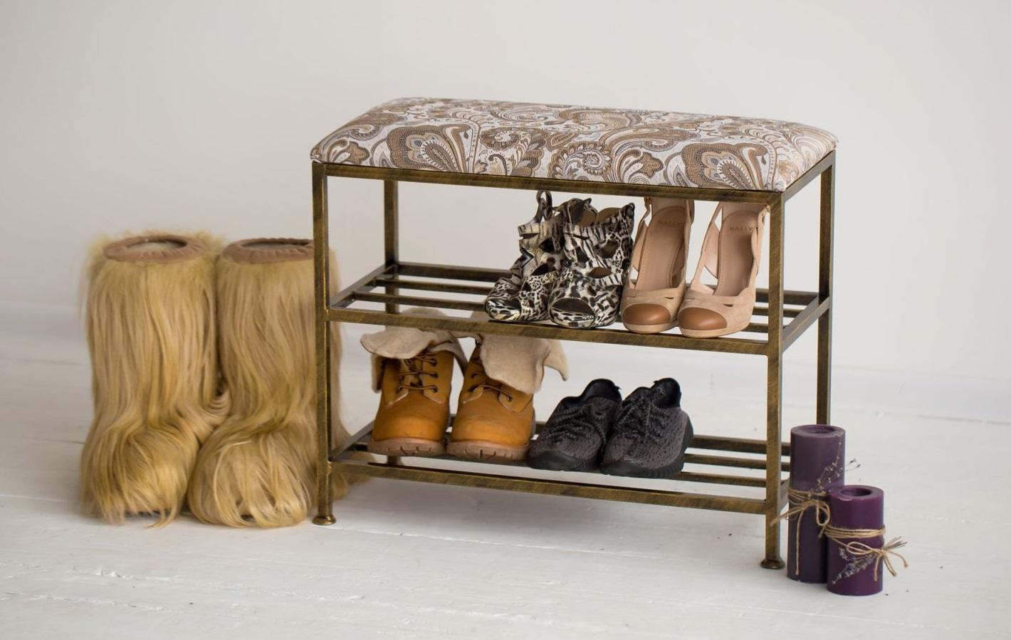 Fantastisk Hyllor för skor på korridoren (27 bilder): Smal bokhylla av metall RE-81