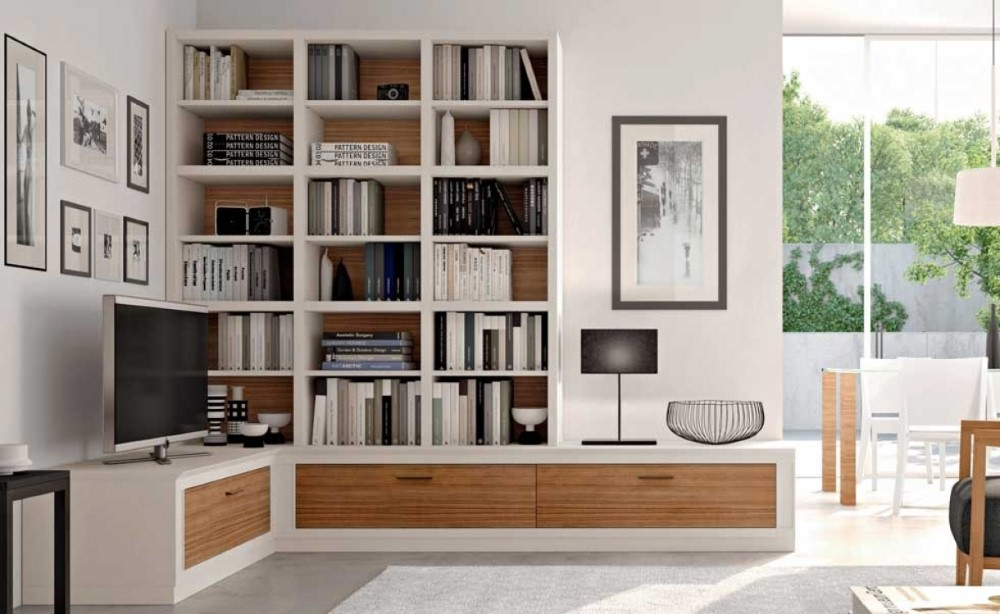 Parete ad angolo nel soggiorno (48 foto): mini-modelli per ...
