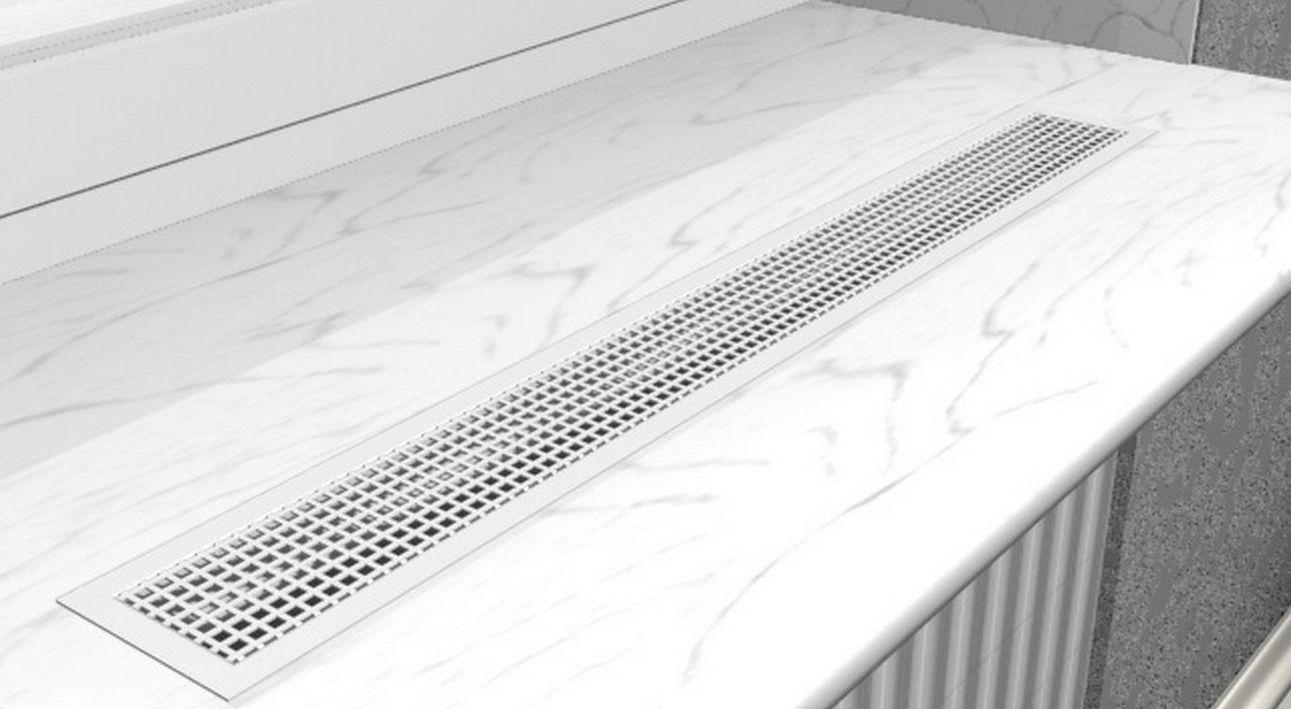 Lüftungsgitter für die Tür: Durchströmungsmodelle von