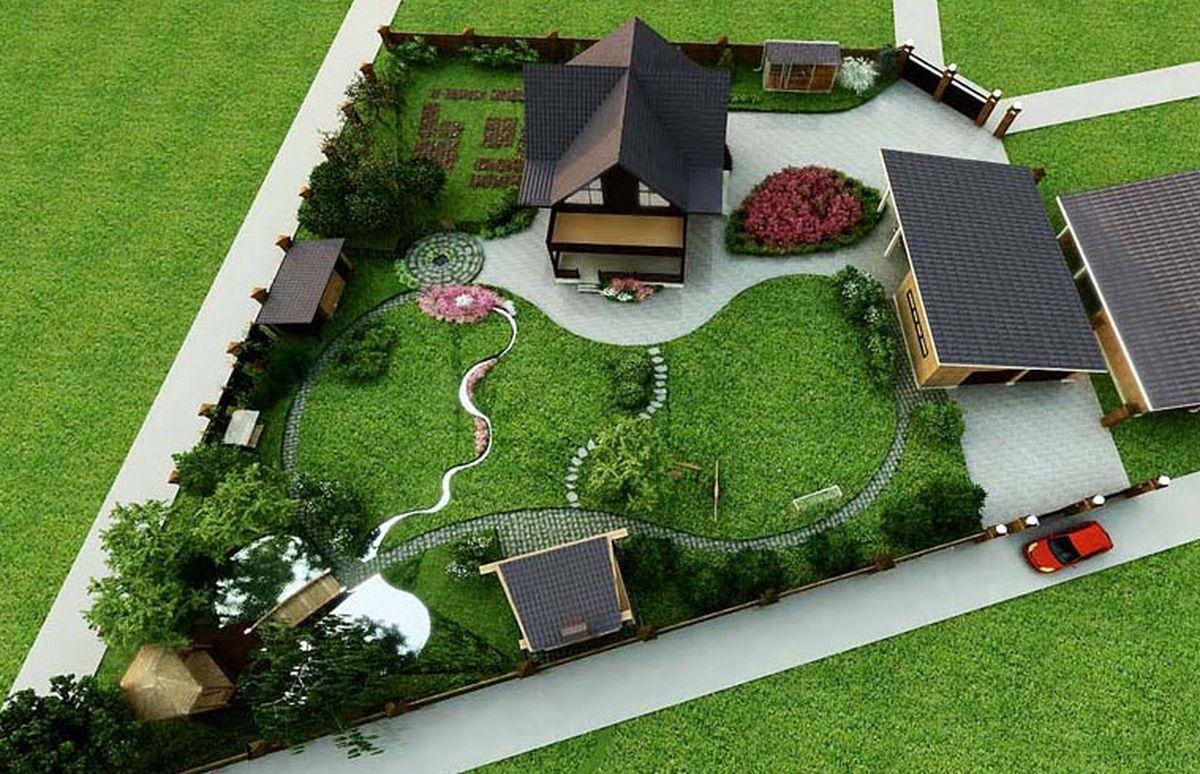 Progettare Un Giardino In Campagna progettare un'area suburbana di 10 acri con le proprie mani