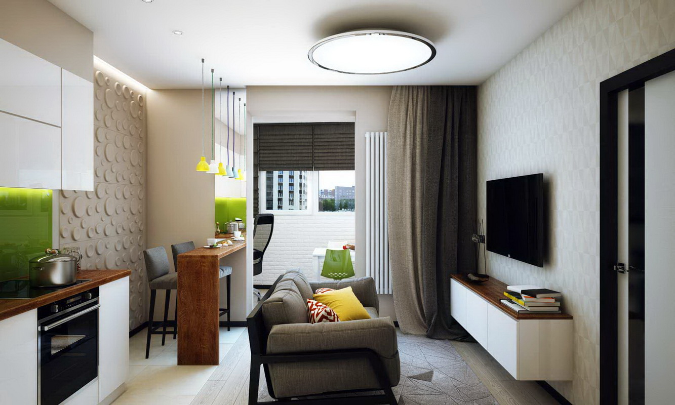 Design One Room Apartment 30 Square Meters M 63 Photos Ideas For The Project And Repair Of A Small Studio