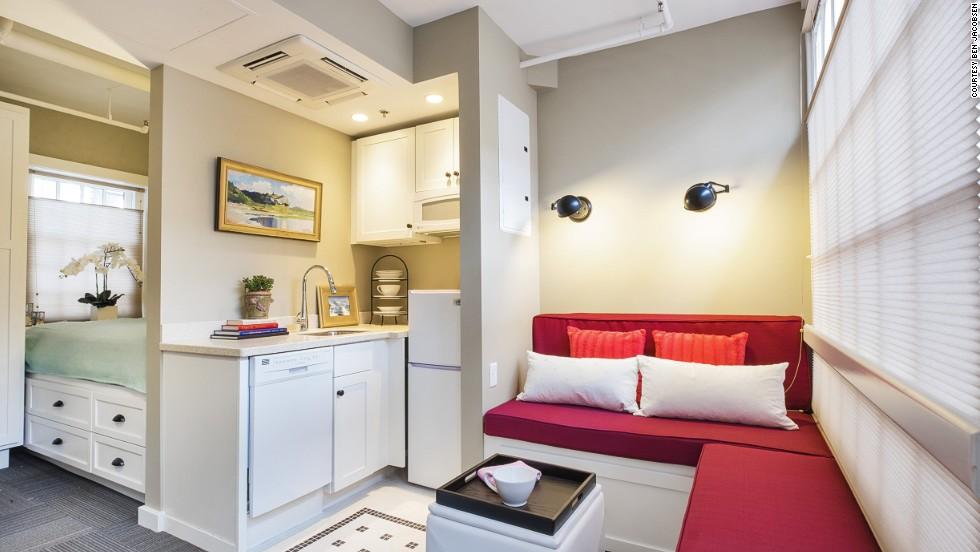 تصميم شقة بغرفة واحدة تبلغ مساحتها 42 متر مربع م 29 صور مشاريع مثيرة للاهتمام للتسجيل
