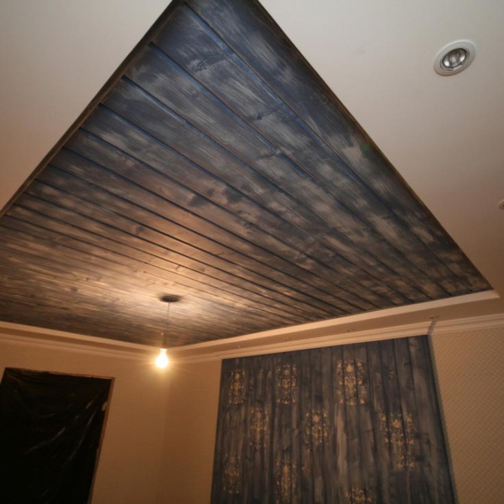 Laminate On The Ceiling 51 Photos, Laminate Flooring On Ceiling