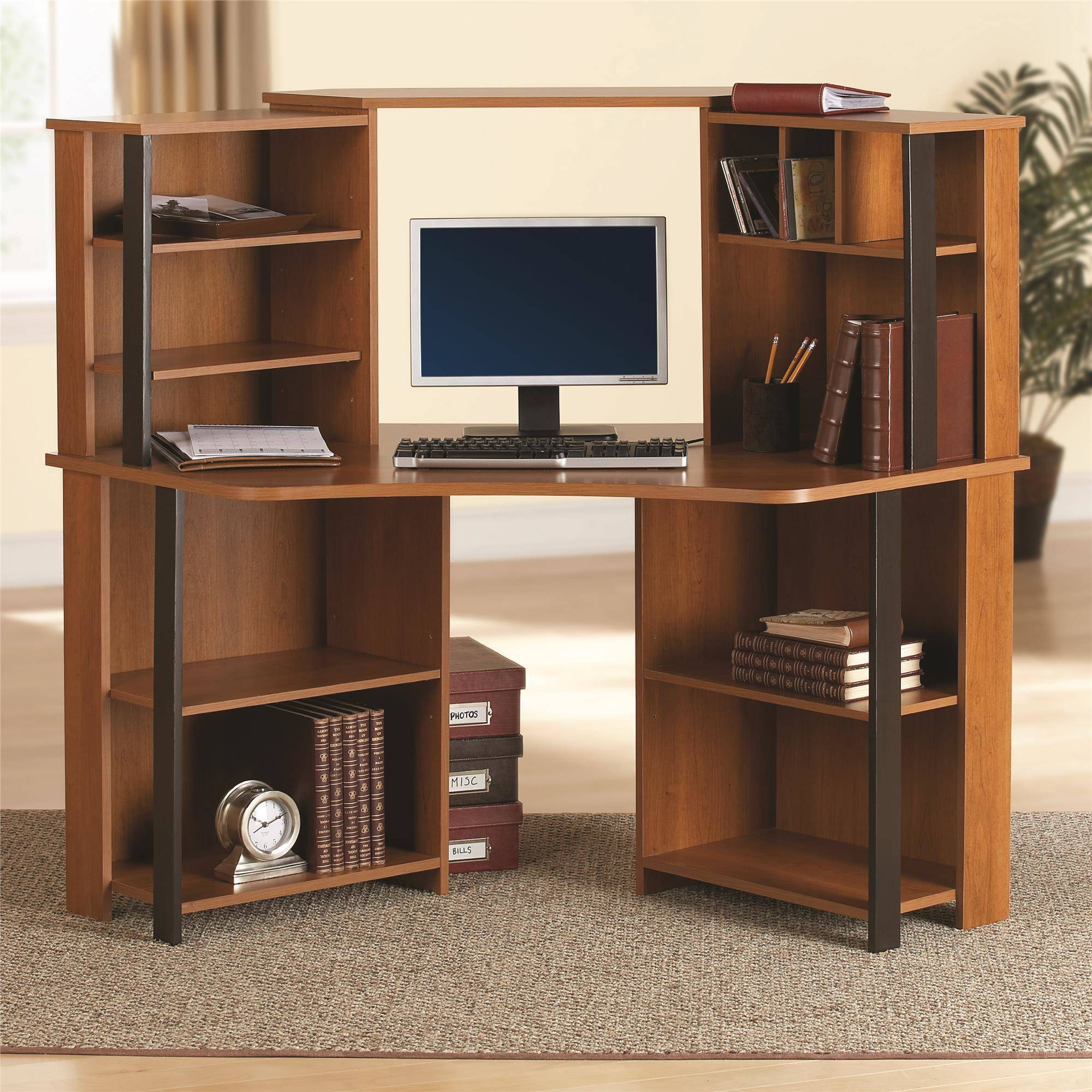 - Computer Table With A Corner Rack (18 Photos): Features And