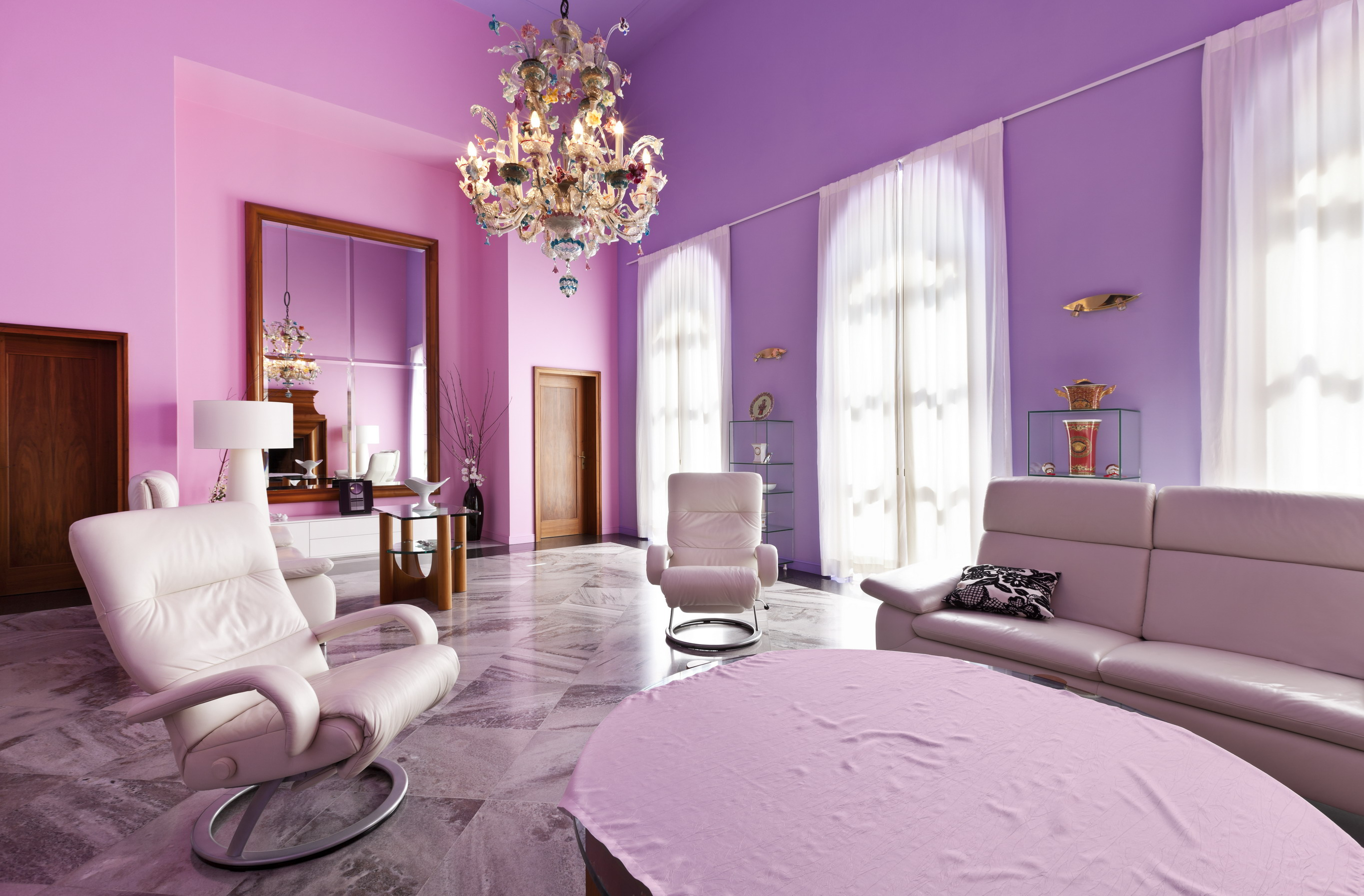 We Select The Curtains Under The Lilac Wallpaper 33 Photos What Color Curtains Fit The Light Lilac Walls