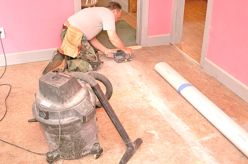 Laying Linoleum On A Concrete Floor, Can You Put Lino On Concrete Floor