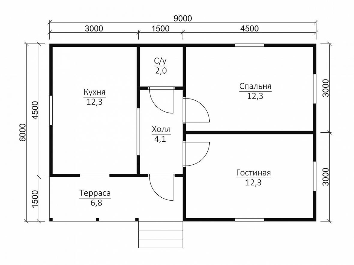 The Layout Of The House Is 6 By 9 M 46 Photos The Project Of A One Story Or Two Story House With A Size Of 6x9 Sq M With An Attic Options And