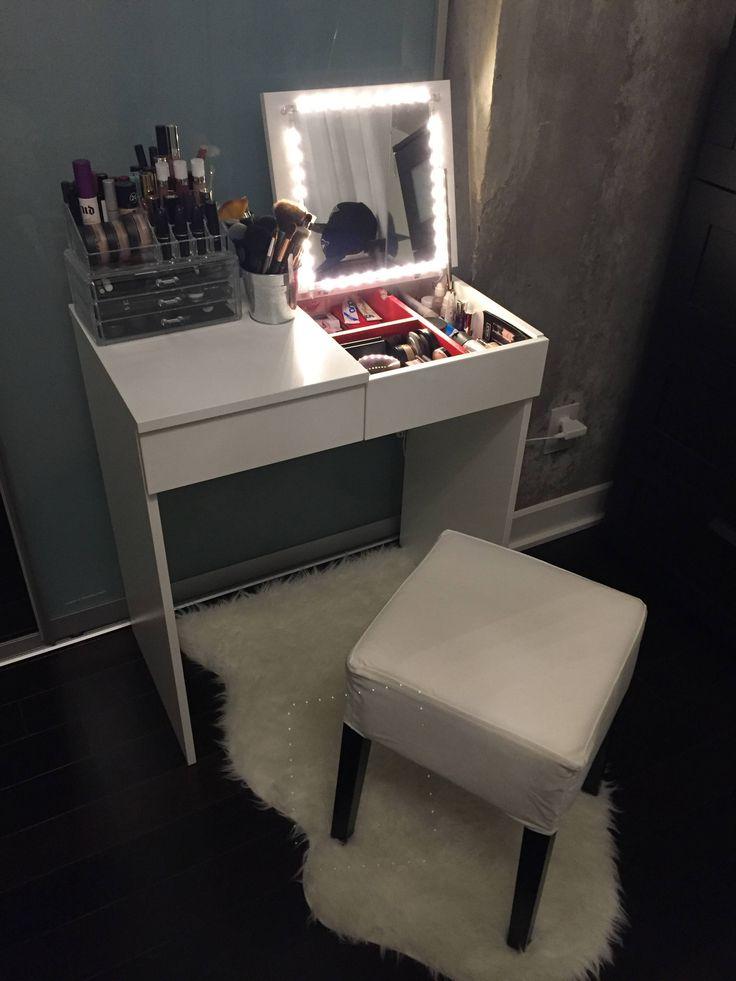Kaptafel Spiegel Met Verlichting Ikea.Toilettafel Ikea 38 Foto S Witte Modellen Met Licht En