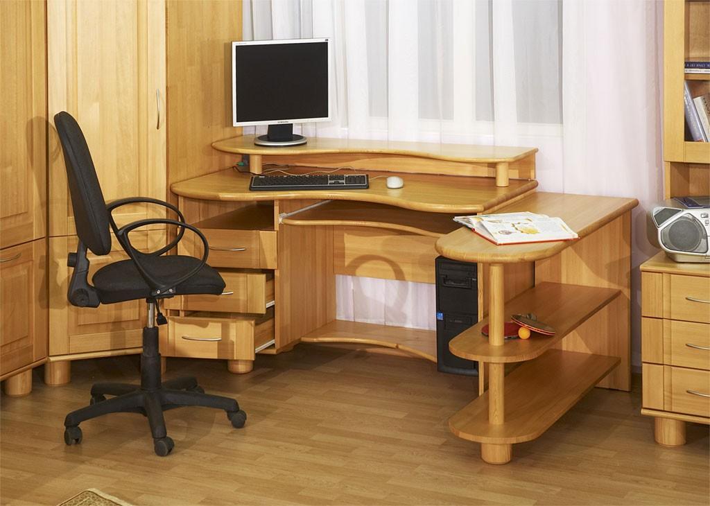 Mobile Ad Angolo Per Computer.Tavolino Angolare Computer Con Mensole E Cassetti 44 Foto