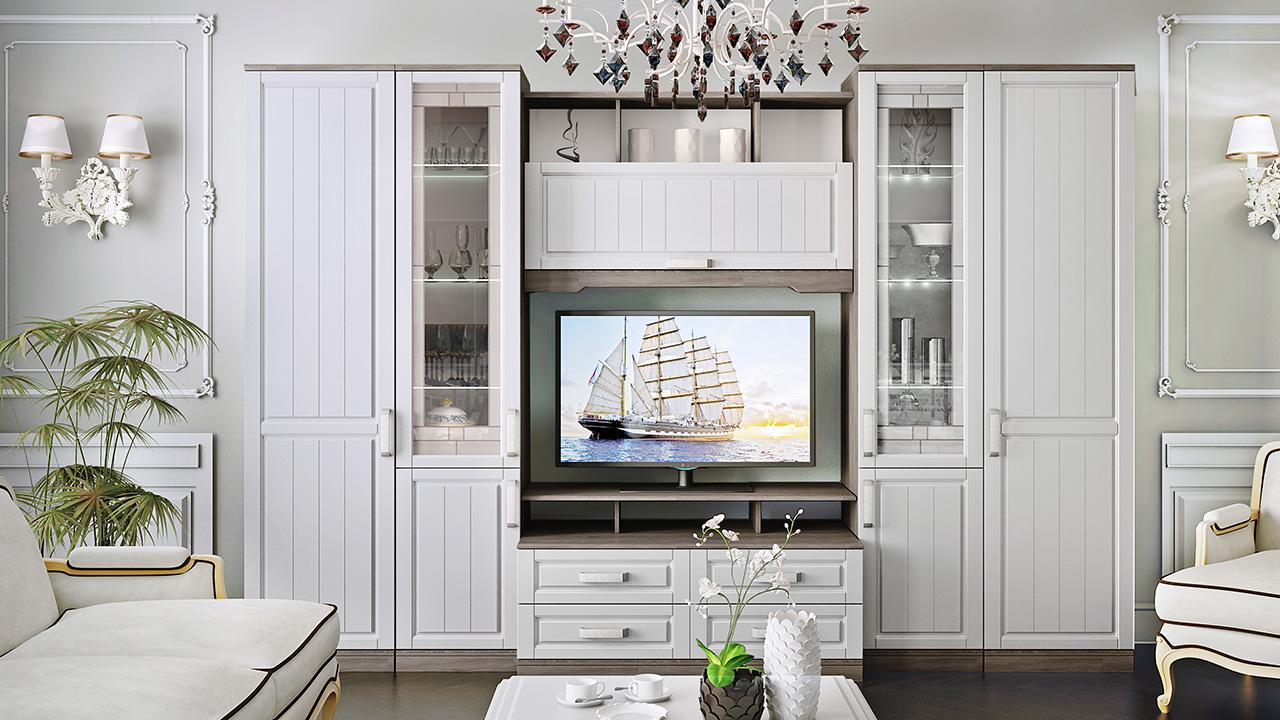 Mobili bianchi per il soggiorno (41 foto): mobili bianchi lucidi ...