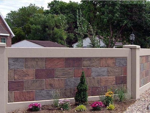 Decorative Concrete Fence 48 Photos Sectional Fence Of Reinforced Concrete Panels Features Of Concrete Fences And Concrete Products