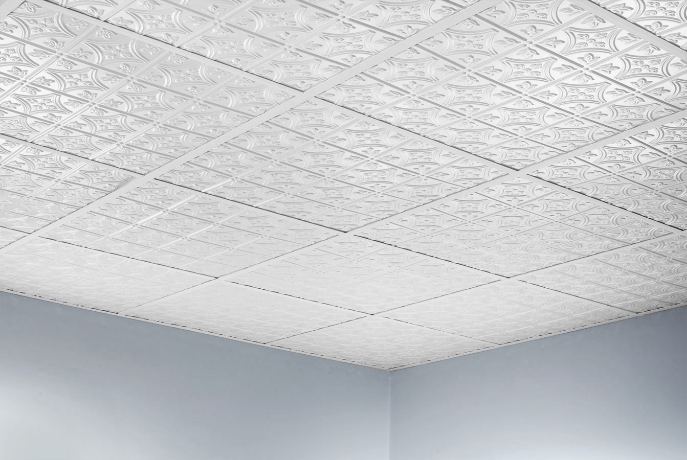 Glue A Ceiling Tile From Polyfoam