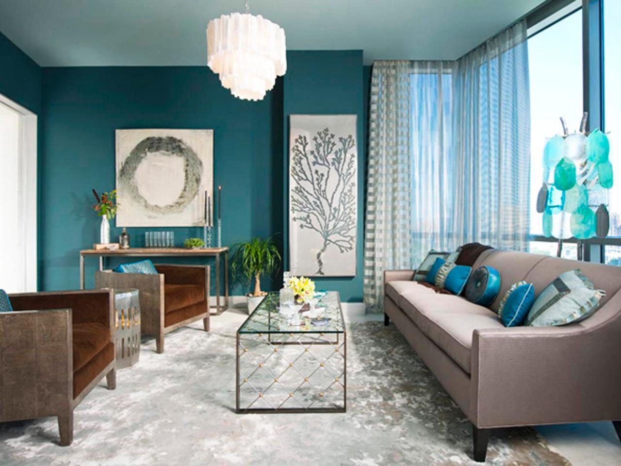 Ruang Tamu Dalam Warna Biru 49 Foto Reka Bentuk Dalaman Dalam Warna Turquoise Aksen Dan Kombinasi Dengan Warna Kuning Air Dan Coklat