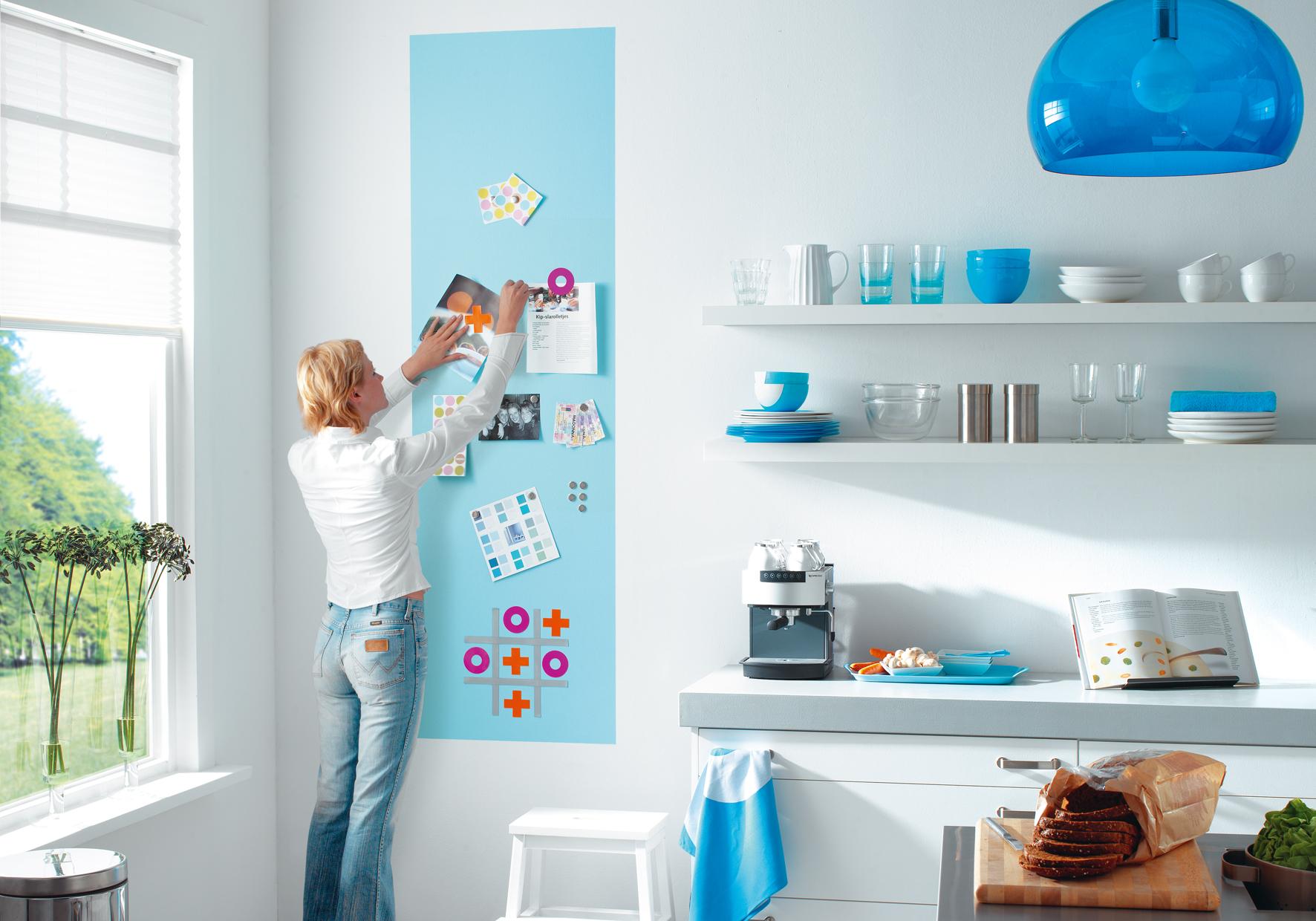 Vernice Lavagna Magnetica Colorata vernice magnetica: gesso marcatore, grafite e pittura murale