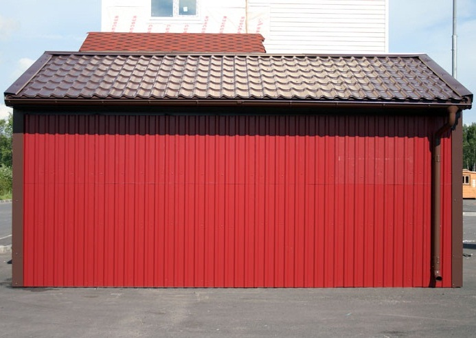 Gates Made Of Corrugated Flooring 50 Photos How To Make A Fence With A Wicket From Metal Profile And Professional Sheet With Your Own Hands
