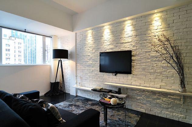 Brick Wall In The Living Room Interior 41 Photos Examples Of The Use Of White Brick In The Interior Decoration With Decorative Bricks Of The Room In The Loft Style