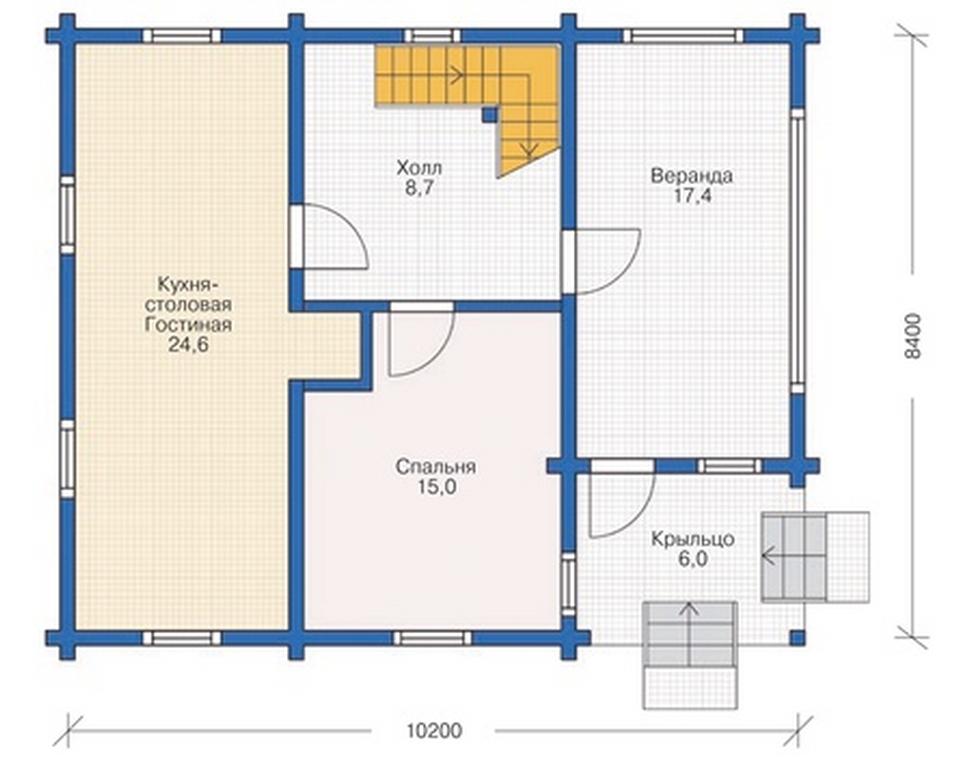 تخطيط المنزل هو 10 8 متر مربع M مع العلية 48 صور مشروع منزل من طابقين مع تصميم ممتاز للغرف خطة مبنى من طابقين بمساحة 10x8 مربع