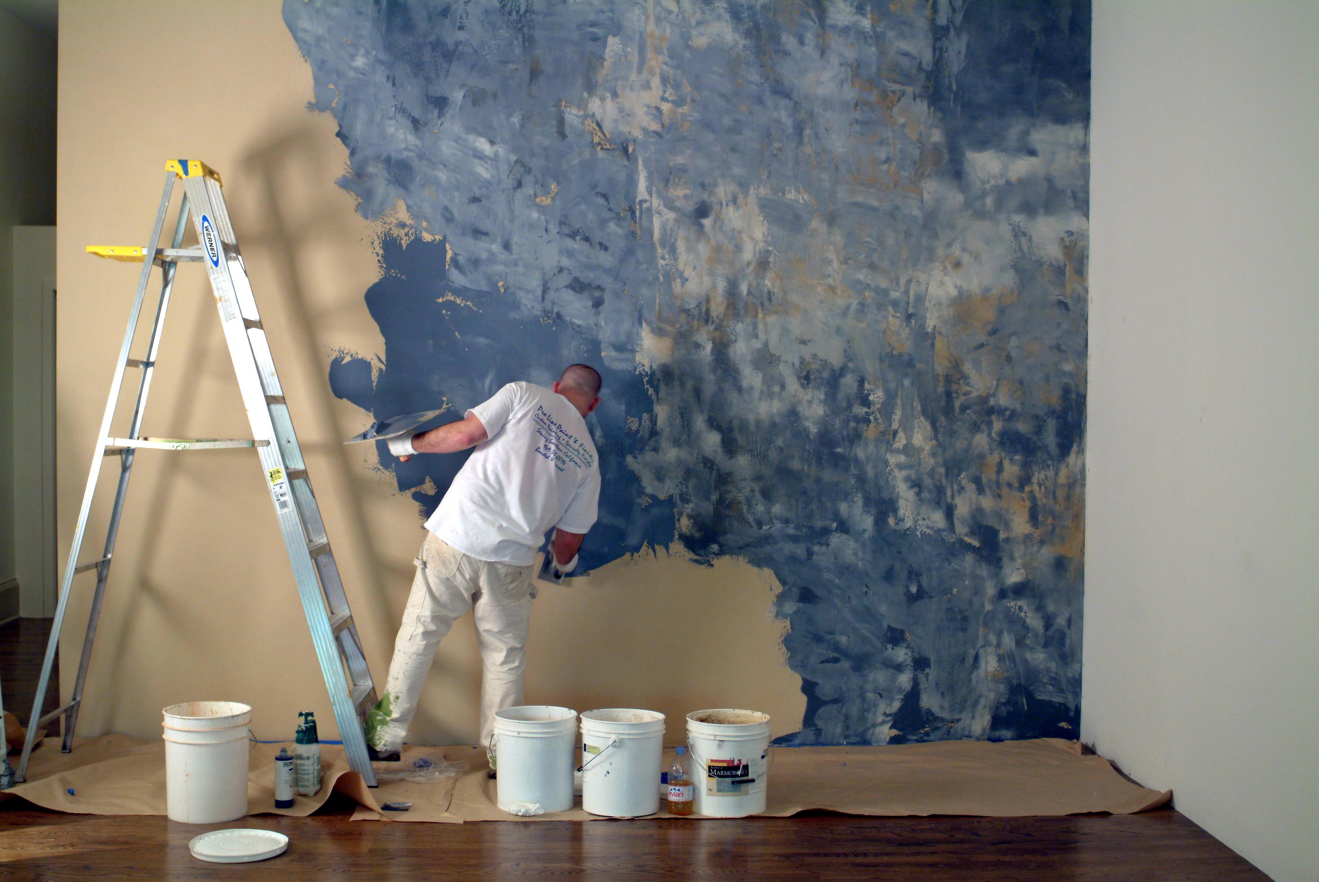 Pittura Effetto Intonaco Invecchiato pittura di intonaco decorativo - metodi di applicazione (34