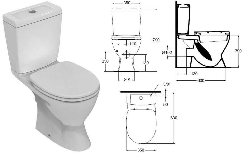 Afmeting Hangend Toilet : Afmetingen toiletpot standaardafmetingen ingebouwd met een