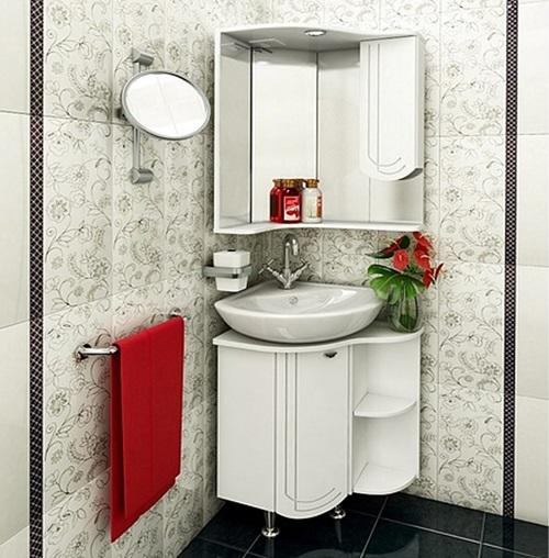 Klappbarer Eckschrank Im Badezimmer 63 Fotos Schranke Und Regale Hangeschranke Ein Gehause Mit Einer Spiegeltur
