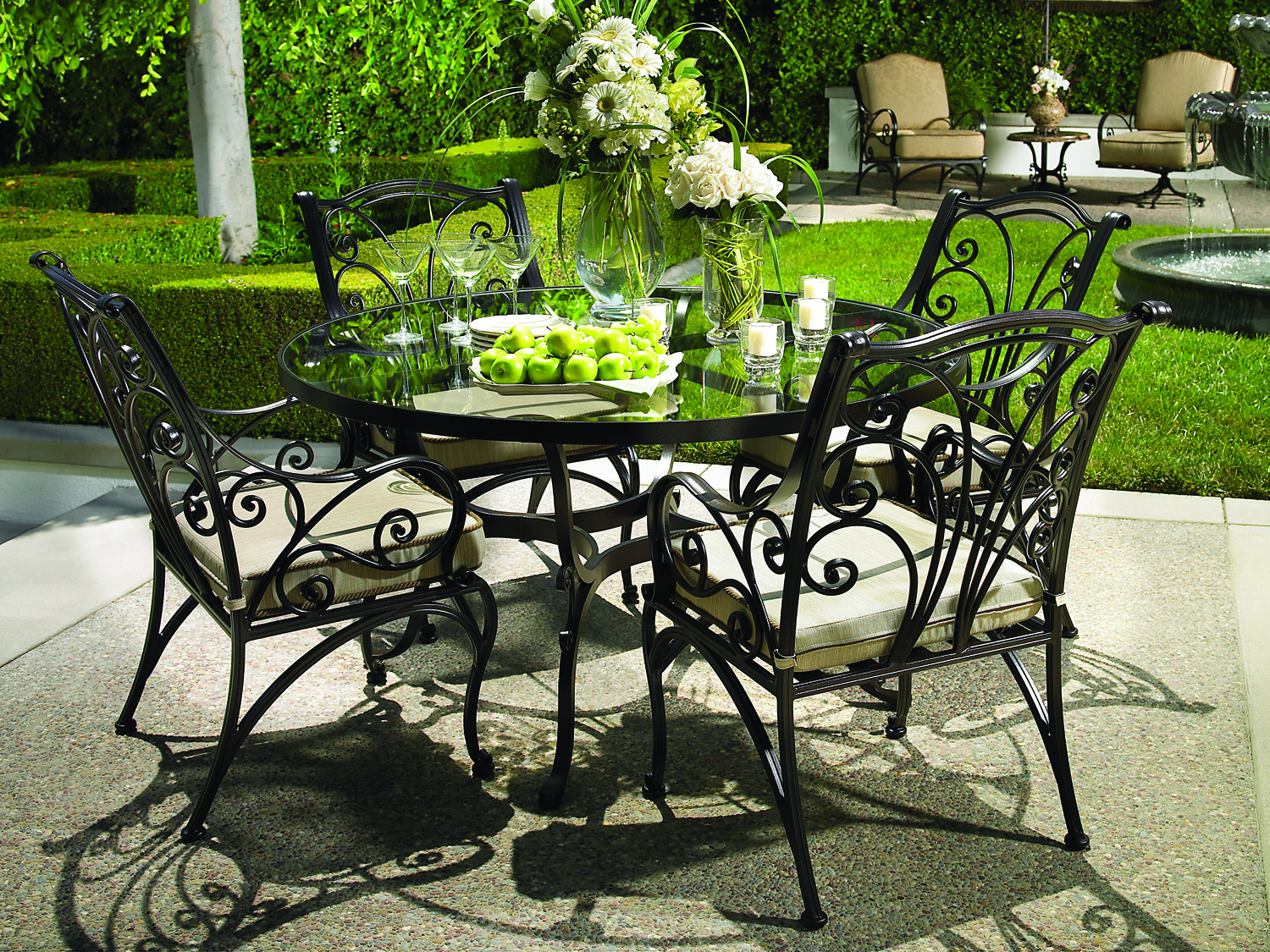 Garden Furniture Made Of Metal 37 Photos Country Metal Bench Aluminum Sets For Garden Iron Table And Chair Options