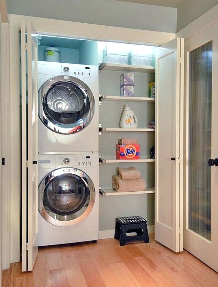 Schrank Fur Waschmaschine Im Badezimmer Mit Eingebautem Trockner