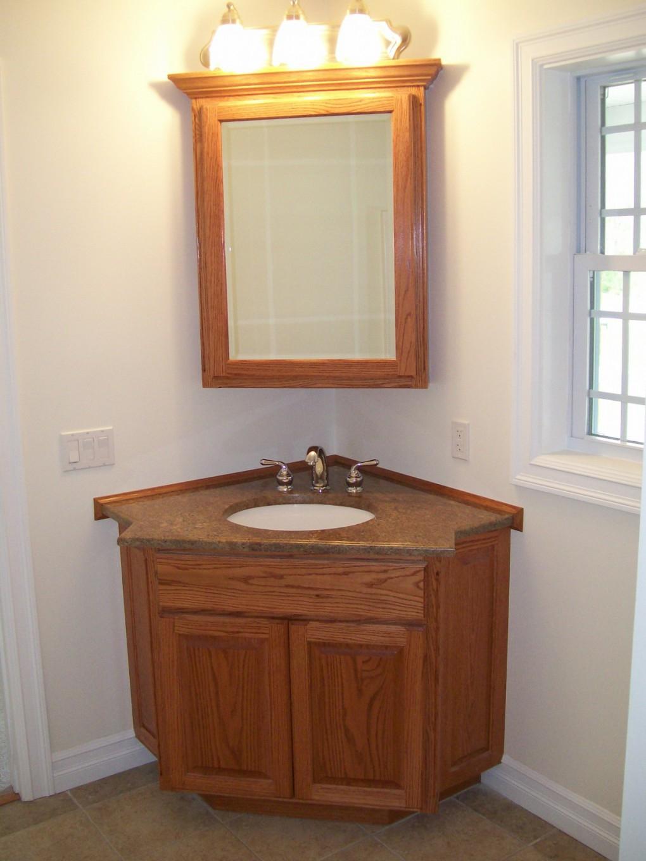 Specchio Per Lavandino Angolare lavandino ad angolo con un armadio in bagno (45 foto): un