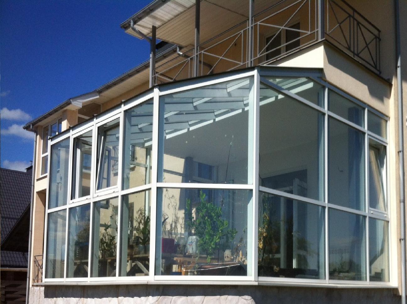 Giardino D Inverno In Vetro giardini d'inverno di profilo in alluminio: opzioni per la