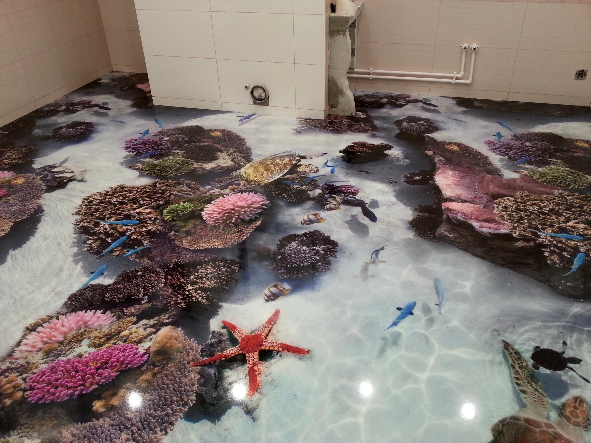 3D Badezimmerboden (55 Fotos): Gestaltungsmöglichkeiten im ...