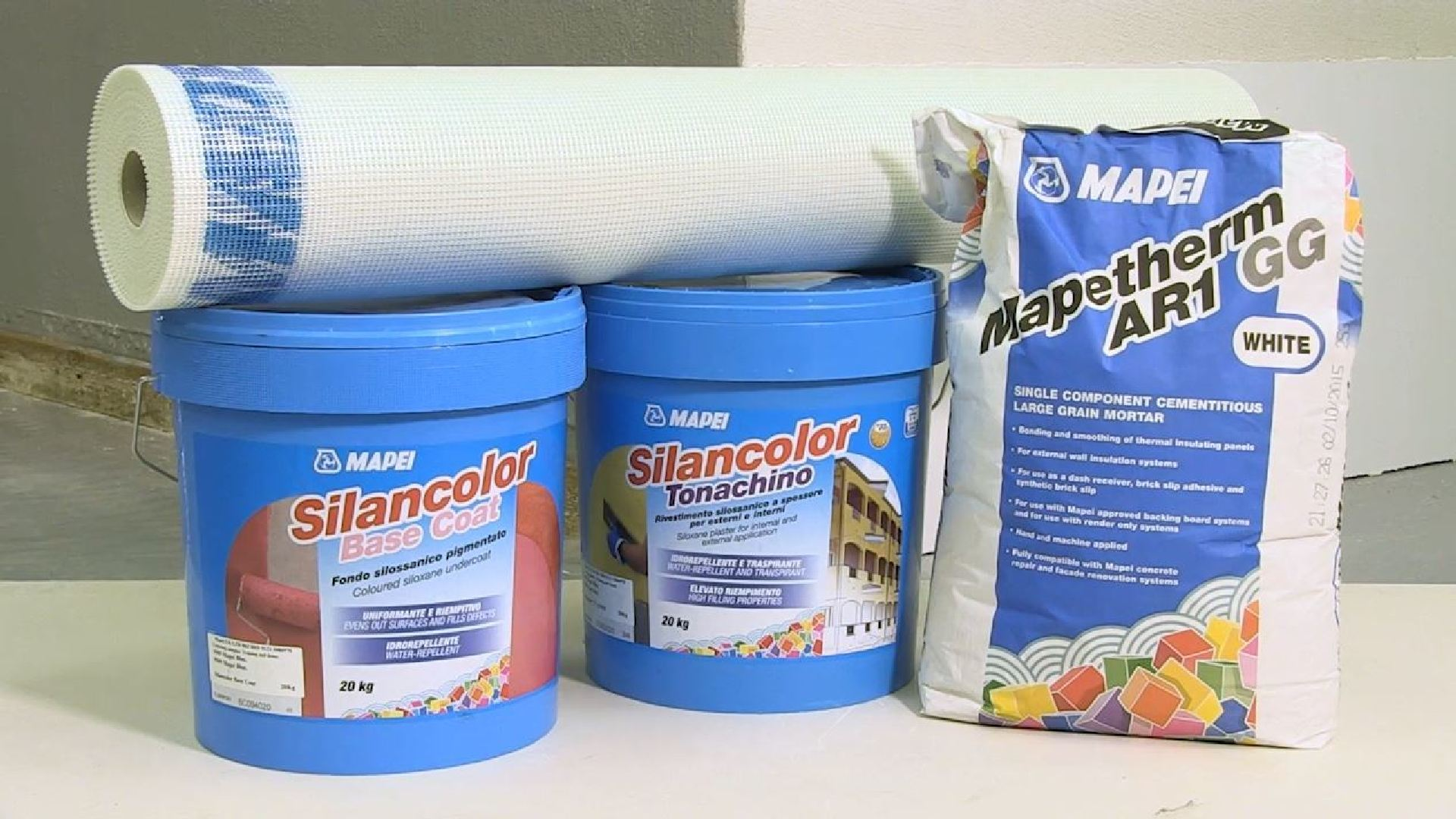 Mapei glue: tile material, Keralastic T and Keraflex Maxi products