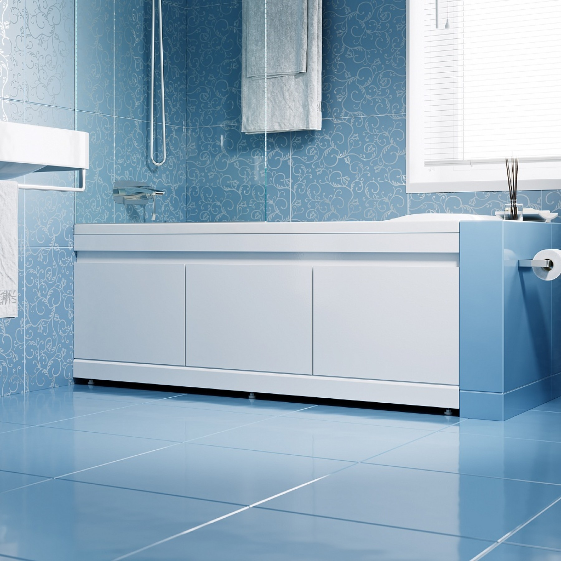 Mdf Bildschirm Unter Der Badewanne Swing Modell Mit Den Abmessungen Von 150 160 170 Und 180 Cm Vorder Und Seitenfach Panel Alavann