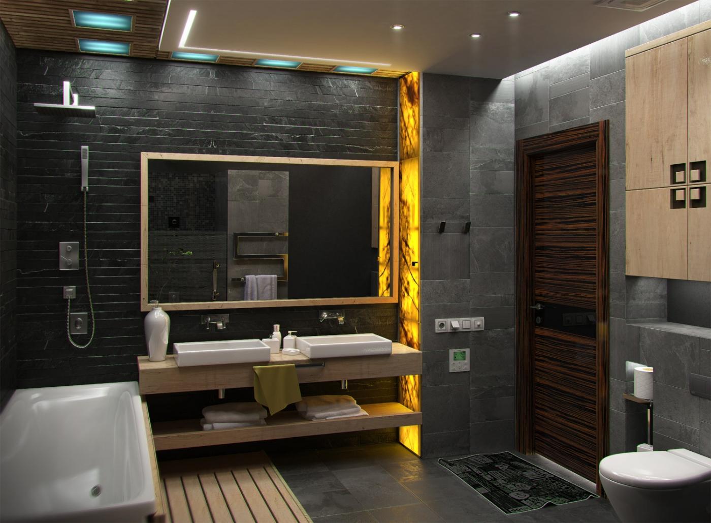 Salle de bain dans différents styles (56 photos): loft et ...