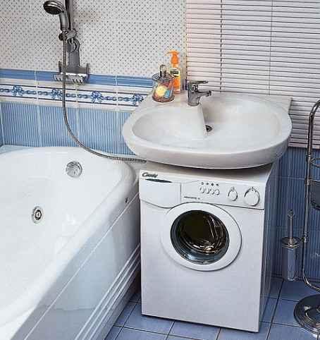Waschmaschine Unter Dem Waschbecken Komplett Mit Spule 51
