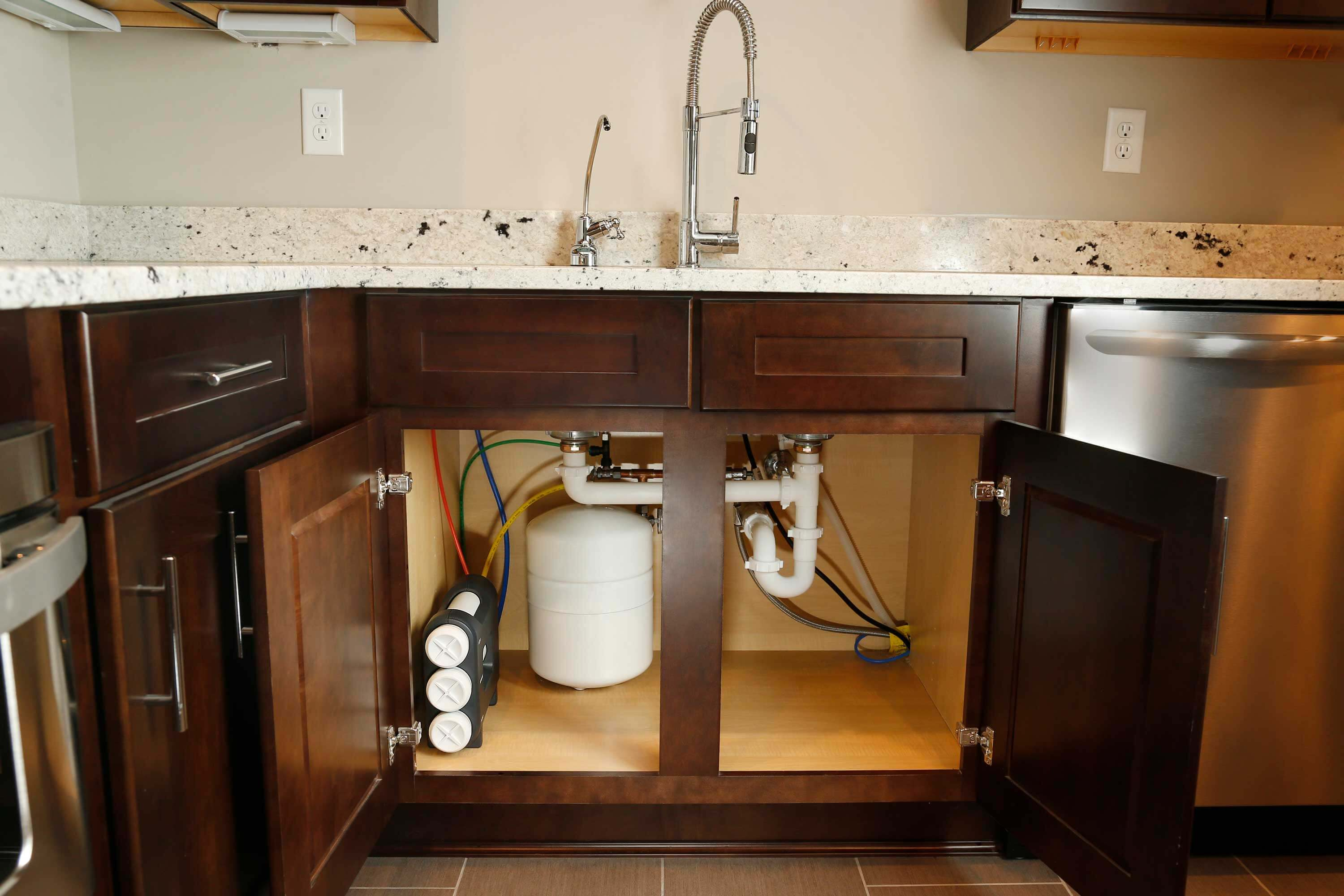 Water filter in the kitchen