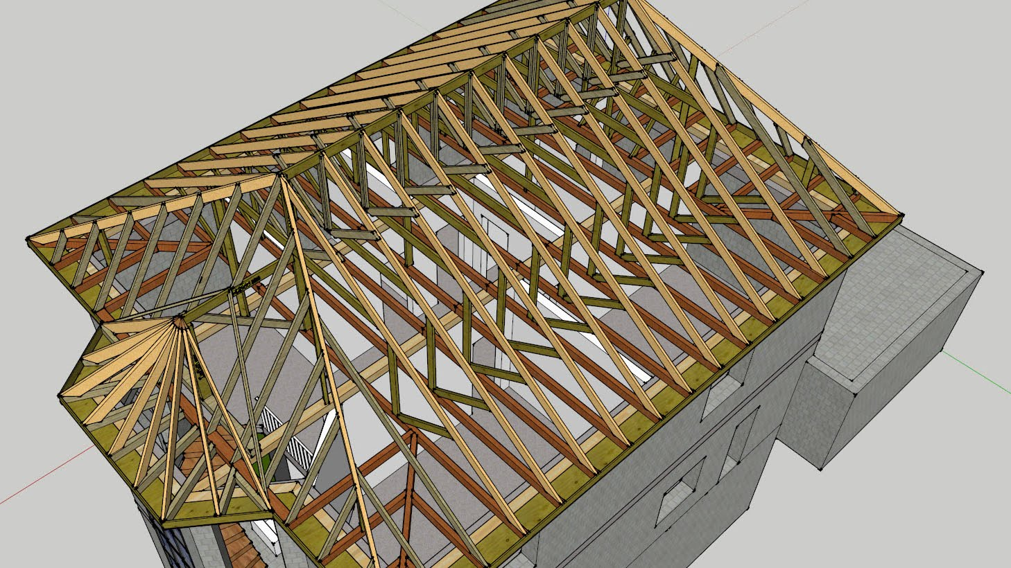 Hip Roof 53 Photos Building A House With A Four Slope Roof Making And Preparing Your Own Drawings