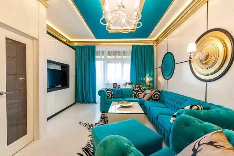 Interieur Ideeen Gordijnen.Turquoise Gordijnen 45 Foto S In Het Interieur Gordijnen In
