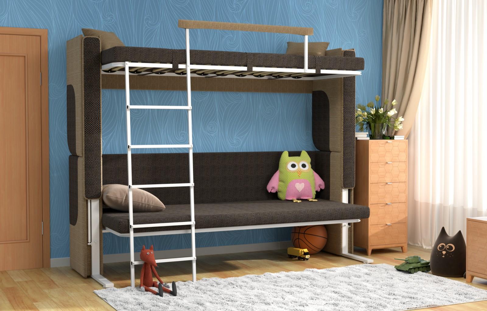 Lit Superposé Sous Pente canapé transformable dans un lit superposé: le modèle