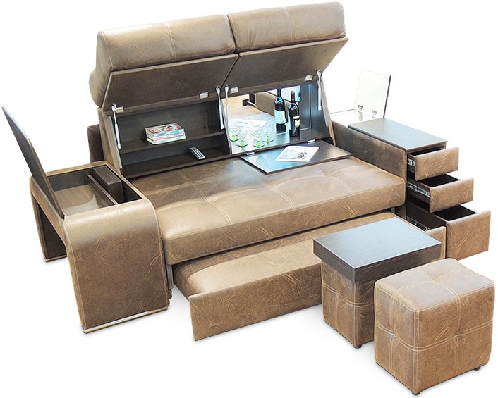 Transforming Sofa In A Bunk Bed The Transformed Two Storeyed Model