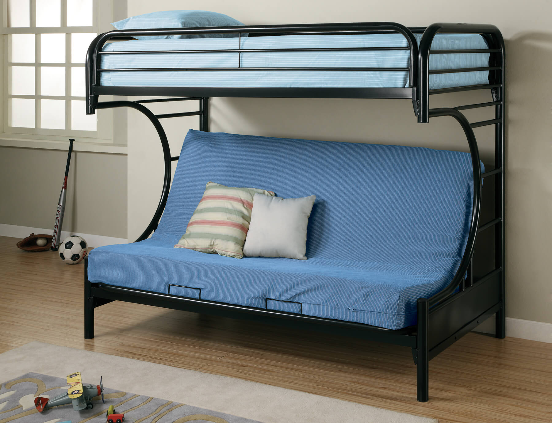 Bunk Bed With A Sofa Two Story Model