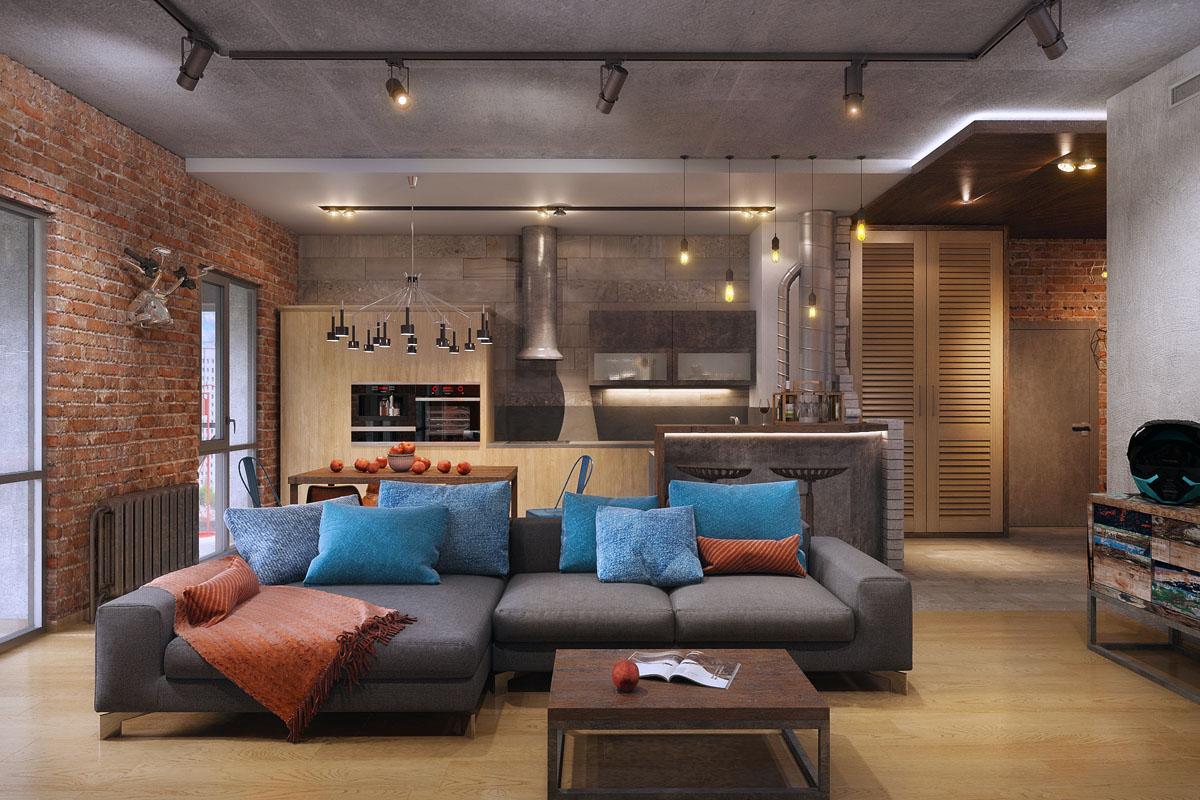 Design keuken woonkamer van vierkante meter m foto s de