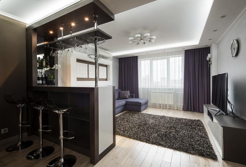 Keuken Woonkamer Met Een Bar 62 Foto S Interieur Scheiding Van Kamers Door Een Boog